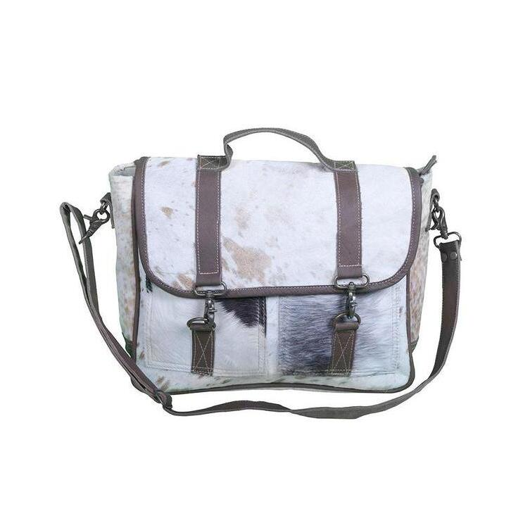77bd60ded188 h m s Remaining. COWHIDE AND LEATHER MESSENGER BAG