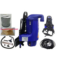 2x Backpack Vacuum Cleaners w 10 Paper Bags Blue 5L