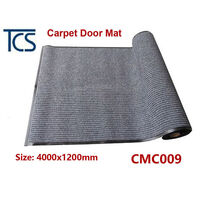 Synthetic Carpet Door Mat with Rubber Back in Grey