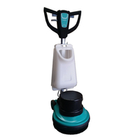 Industrial Floor Scrubber w 2 Brushes & Pads Holder