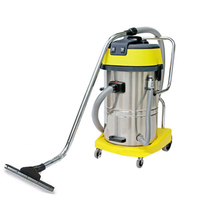 Stainless Steel Wet & Dry Vacuum Cleaner Yellow 60L