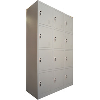 12 Door Metal Storage Cabinet w Digital Locks 1.85m