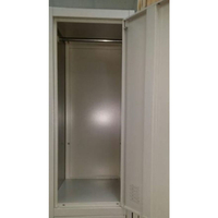 Large 6 Door Metal Storage Cabinet Locker in Grey