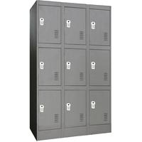 9 Door Metal Storage Cabinet w/ Digital Locks Grey