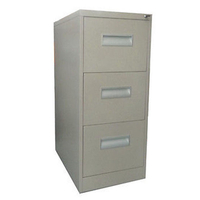 Metal Storage Filing Cabinet with 3 Drawers in Grey