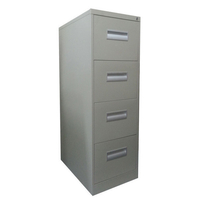 Metal Storage Filing Cabinet with 4 Drawers in Grey