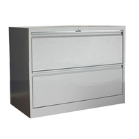 Heavy Duty Metal 2 Drawer Lateral File Cabinet Grey