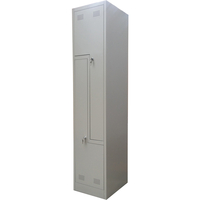 2 Door L Shape Metal Storage Cabinet Locker in Grey