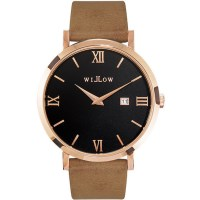 Willow Roma Watch in Rose Gold w/ Vegan Beige Strap