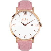 Willow Siena Watch Rose Gold & White w/ Pink Strap