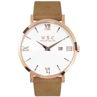 Willow Siena Watch in Rose Gold with Beige Strap