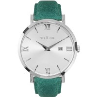 Willow Venezia Sunray Watch in Silver w/ Teal Strap