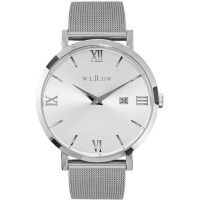 Willow Venezia Watch in Silver w/ Steel Mesh Strap
