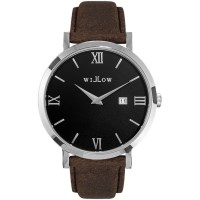 Willow Treviso Watch in Silver with Brown Strap