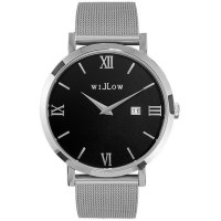 Willow Treviso Watch in Silver w/ Steel Mesh Strap