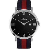 Willow Treviso Watch in Silver w/ NATO Stripe Strap