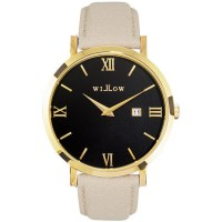 Willow Milano Watch in Gold w/ Beige Leather Strap