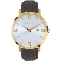 Willow Napoli Leather Watch w/ Strap in Gold & Grey