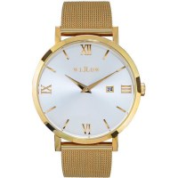 Willow Napoli Watch in Gold & White with Mesh Strap