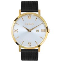 Willow Napoli Mesh Watch w/ Strap in Gold & Black