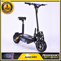 Brushless Motor Electric Scooter in Black 1600W 48V