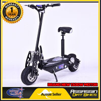 Brushless Motor Electric Scooter in Black 1300W 48V