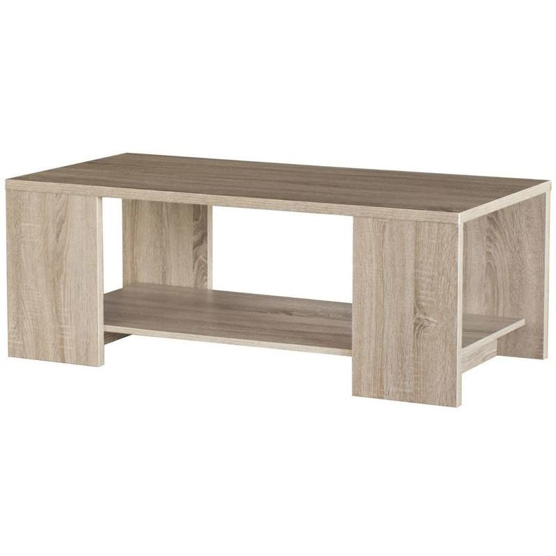 Cue 2 Tier Chipboard Melamine Coffee Table In Oak Buy Coffee