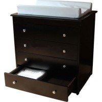 Wooden Dresser Change Table with 4 Drawers - Walnut