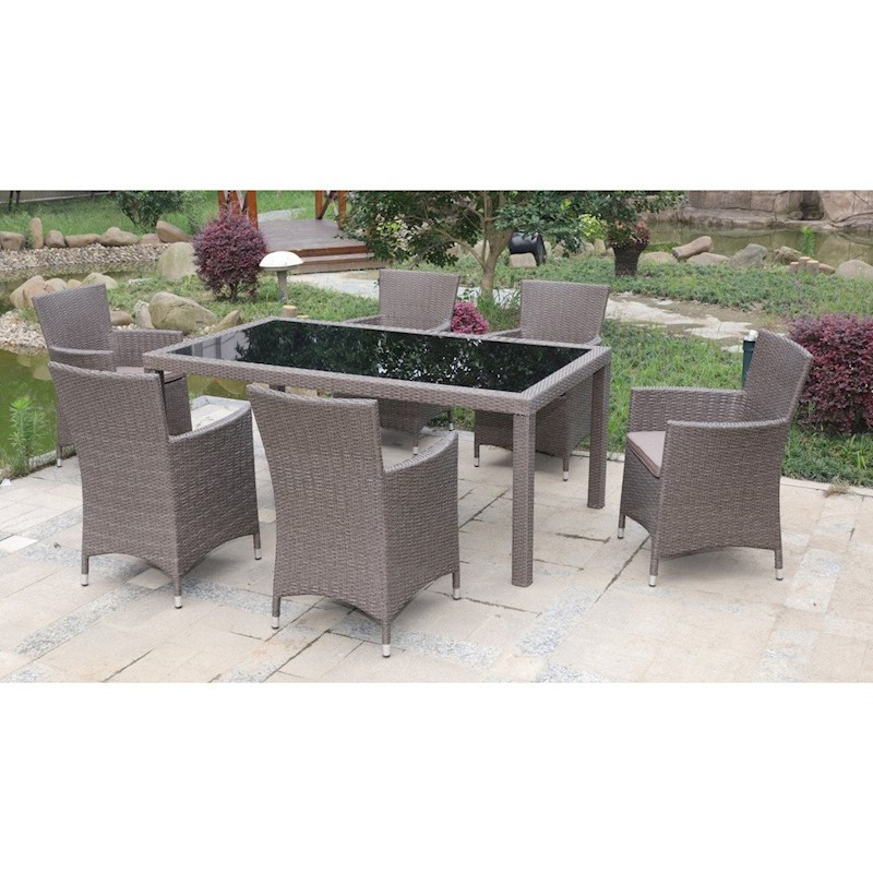 Cooma 7 Piece Outdoor Dining Setting Brown Buy 6 Seat Dining Sets