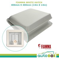 Fiamma White Hatch 400 X 400mm Vent Caravan Motorhome Roof Cover Camping  4328B01