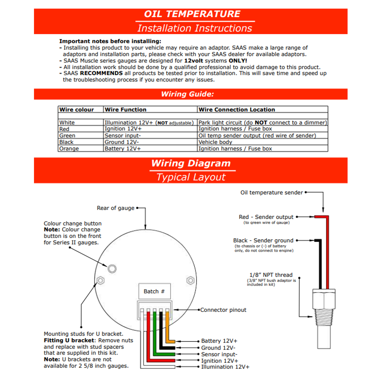 Water Temp Gauge Wiring Diagram - All Diagram Schematics on