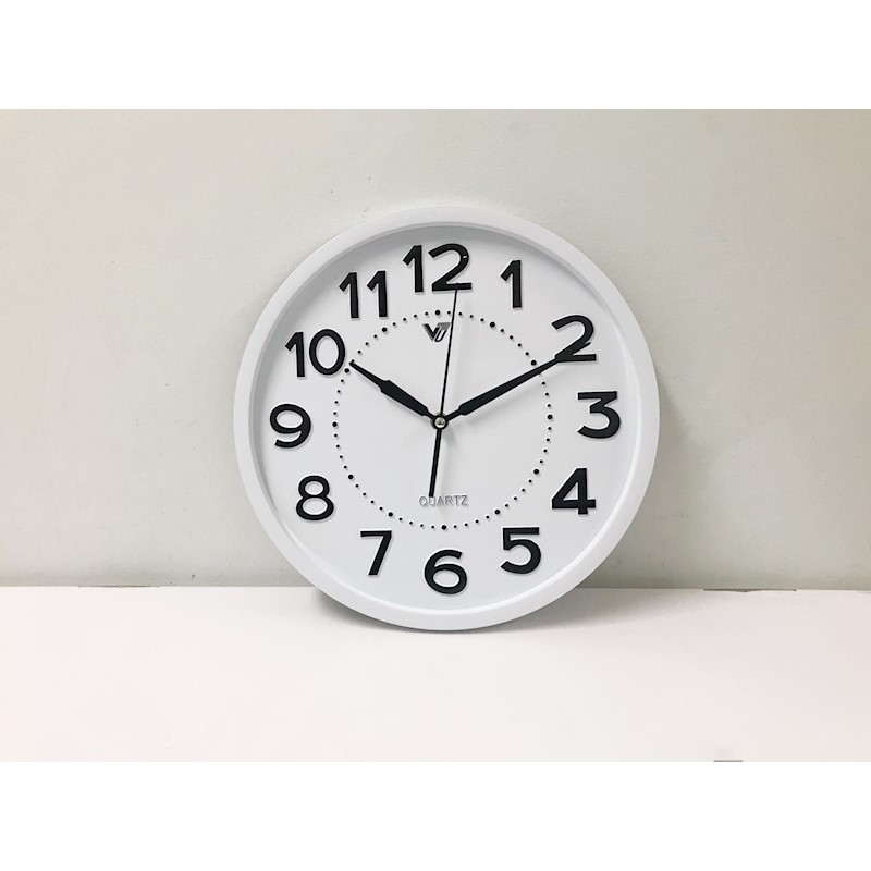 3Dnumber home style 12\'\' plastic wall clock (White frame) | Buy Wall ...