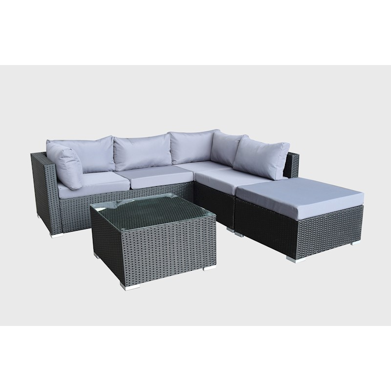 And Black With Chaise Levanzo Modular Super Table m0wNn8vO