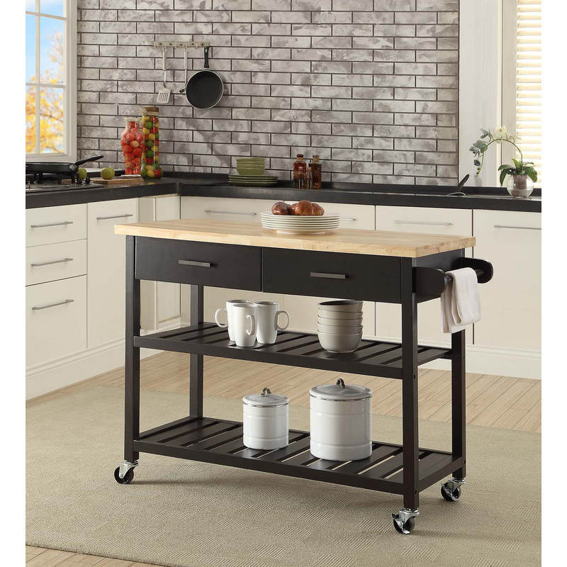 kitchen trolleys and islands kitchen island trolley with open shelves black buy 20136