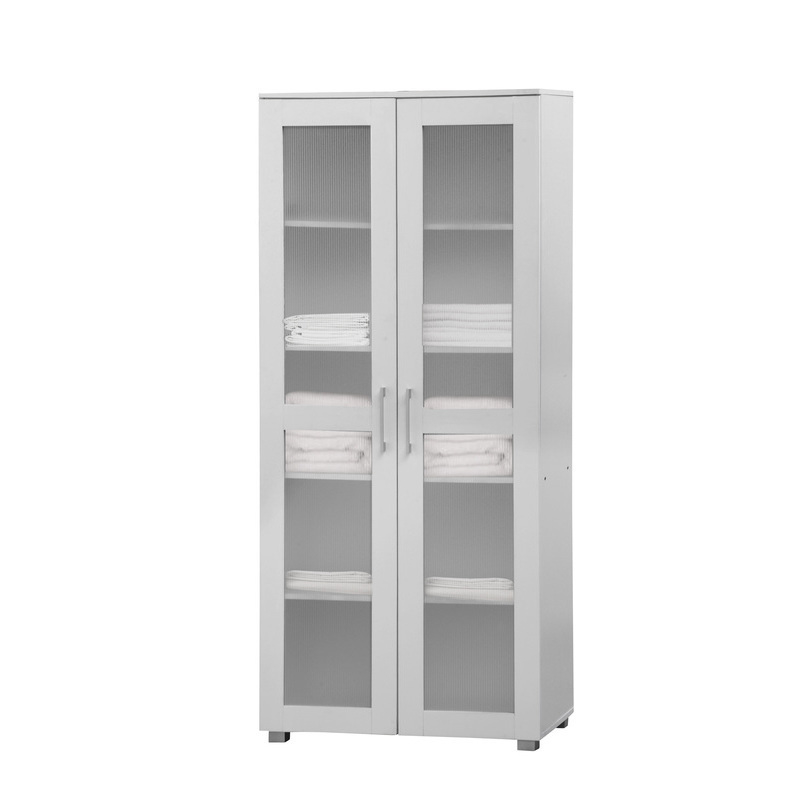 Aspen Double Door Tall Cupboard Cabinet In White Buy Kitchen Cabinets Pantries