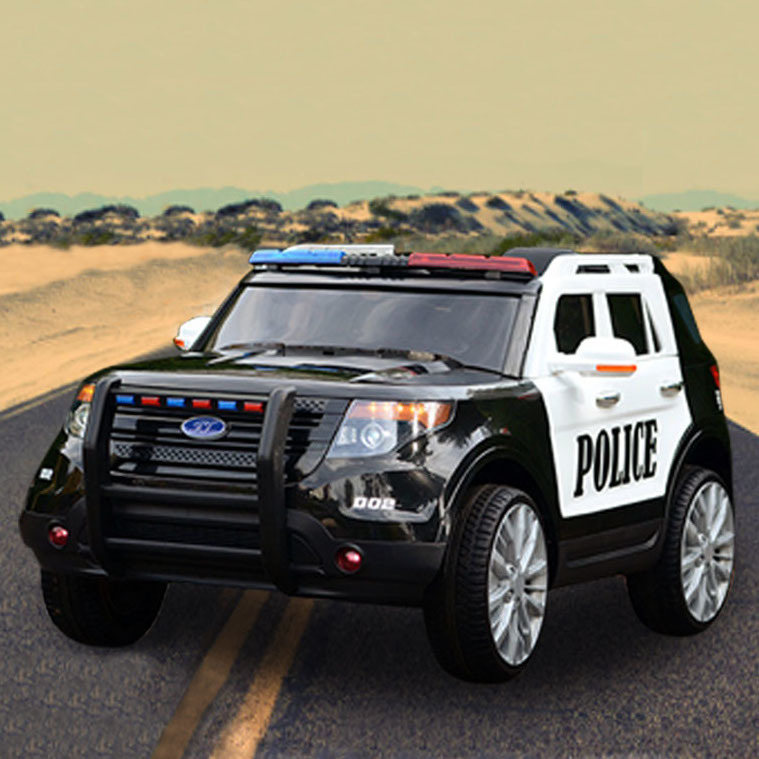 Electric Kids Cars >> Kids Electric Ride On Police Car In Black White 12v Buy Ride On