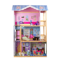 3-Storey 5 Rooms Wooden Doll House. LIMITED FREE SHIPPING b818d8a19966