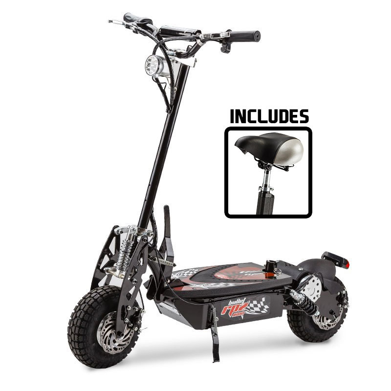 BULLET RPZ1600 Series 1000W Electric Scooter 48V - Turbo w/ LED for  Adults/Child