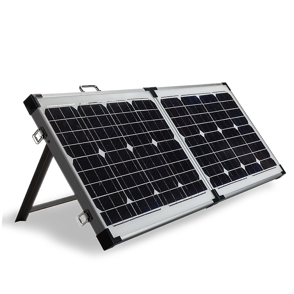 G Amp P 12v 120w Folding Portable Mono Solar Panel Kit Caravan