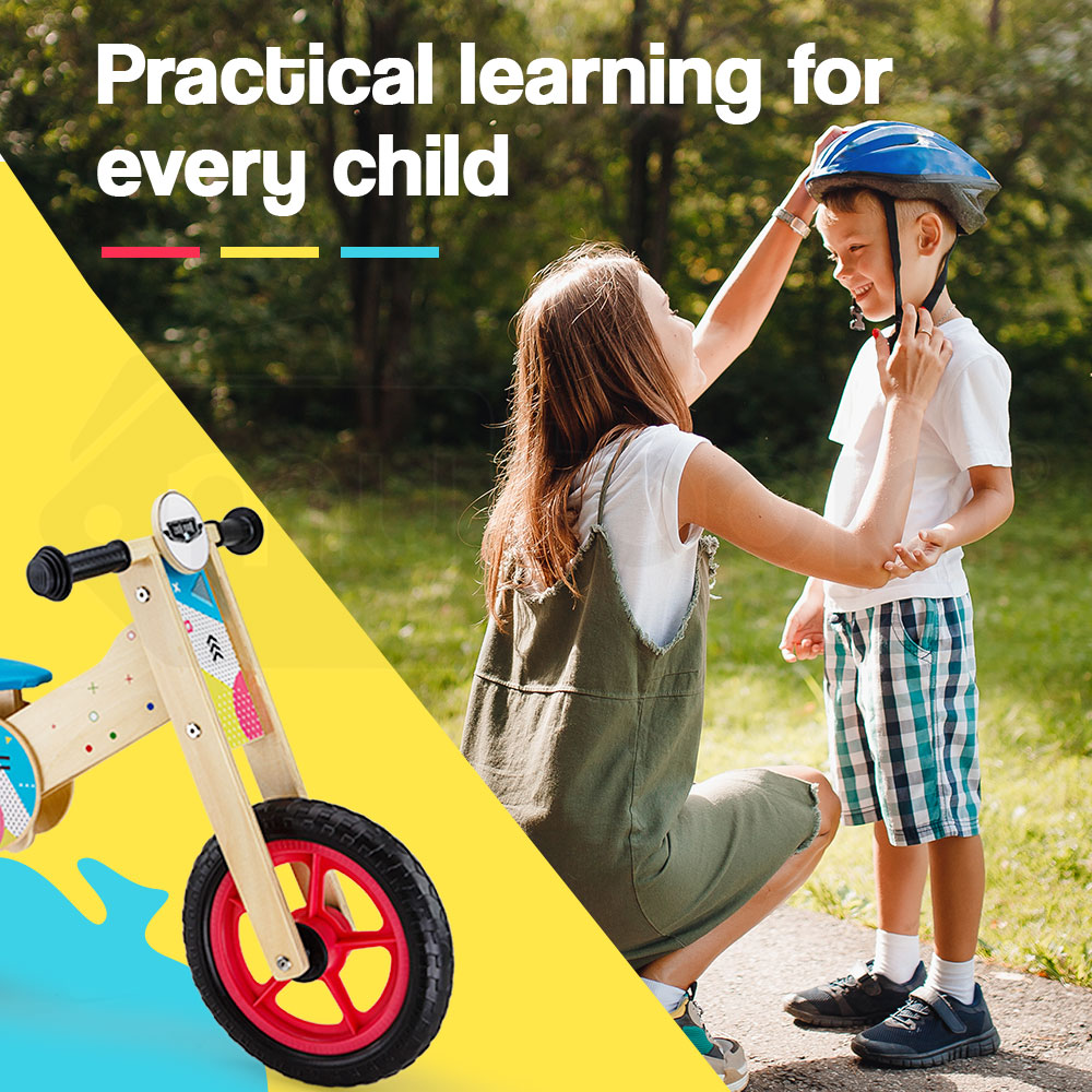 fe464e4d739 h m s Remaining. ROVO KIDS Balance Bike Wooden Ride On Toy Bicycle Push  Training Outdoor Toddler