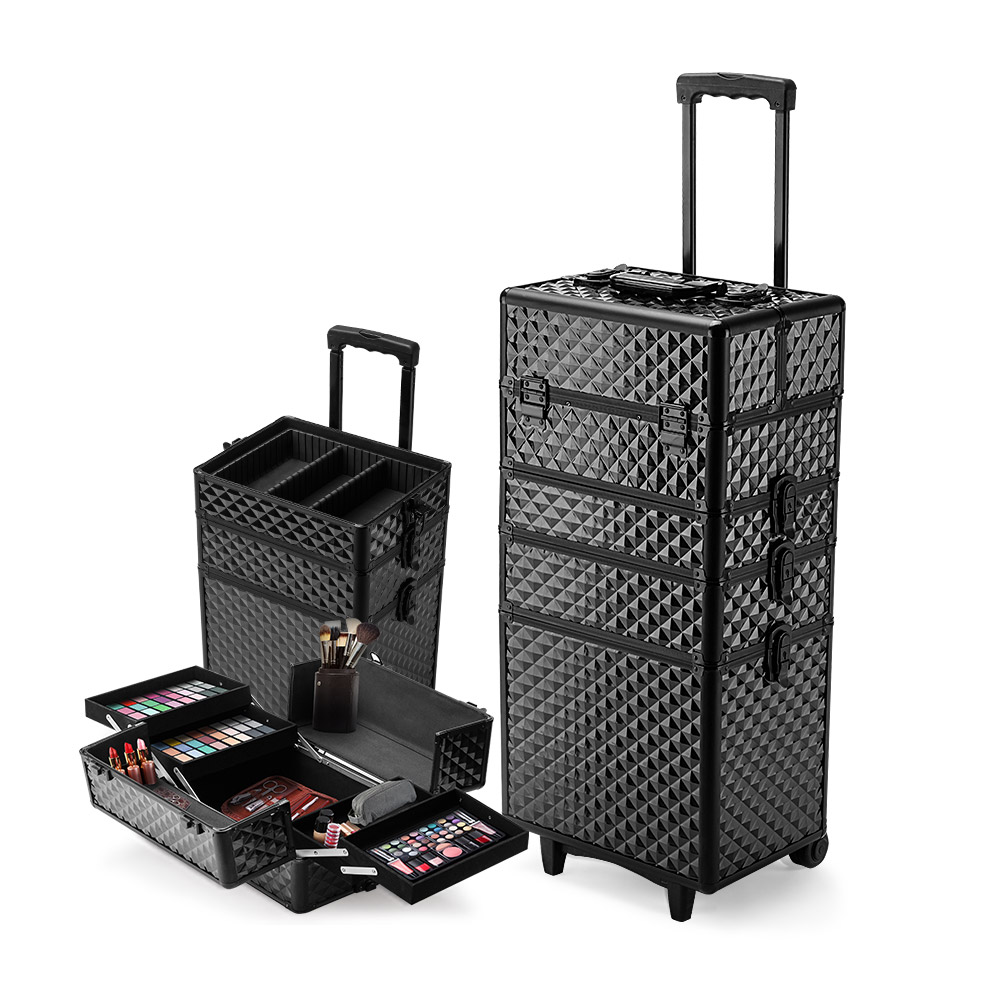 Effleur 7 In 1 Cosmetic Case Beauty Makeup Holder Organiser Black