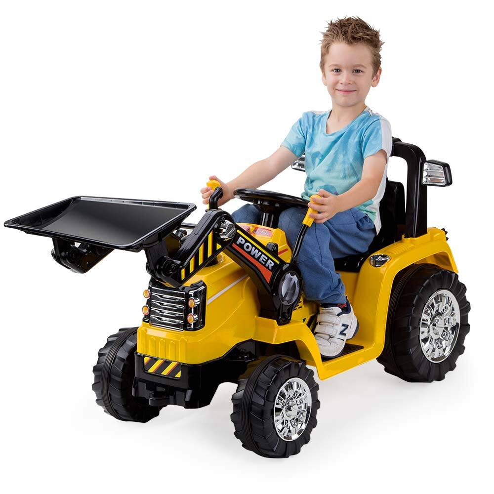 Rovo Kids Ride-On Bulldozer Loader Digger Tractor Electric Car Battery  Children Toy