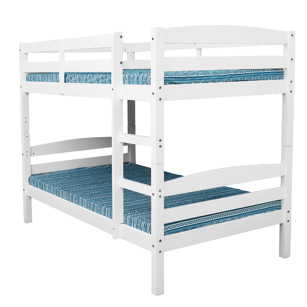 White 2in1 Single Bunk Bed Frame Buy Bunk Beds 9348948042722