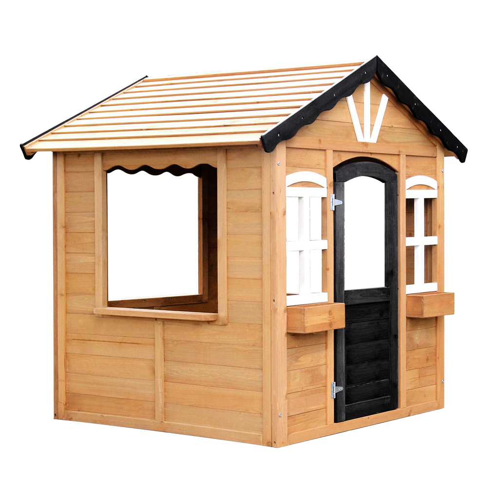 Rovo Kids Cubby House Wooden Outdoor Playhouse Cottage Children Play Timber