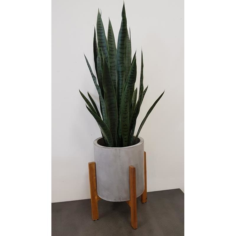 Brooklyn Timber Frame Round Concrete Planter Stand Buy