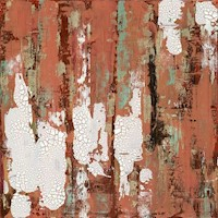Red Centre #2 - Hand Painted Canvas Artwork 60x60cm