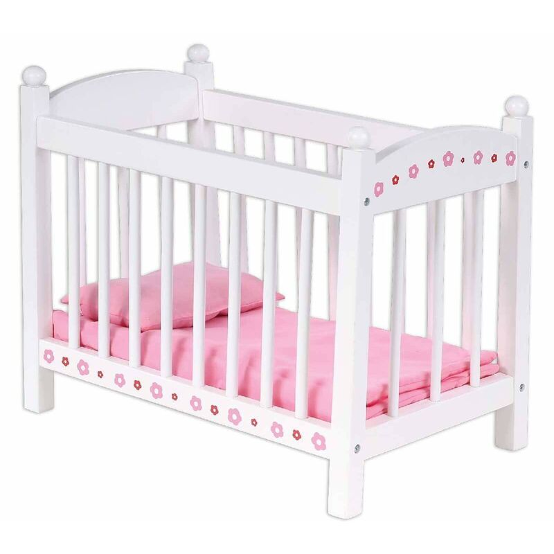 Children Wooden Bubbadoo Doll Bed Barbie Toy Cot Play Set