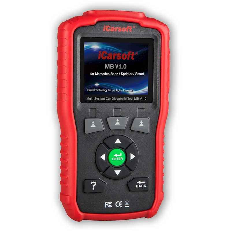 Red iCarsoft Multi-System Auto Diagnostic Tool MB V1.0 for Mercedes-Benz//Sprinter//Smart with Oil Reset