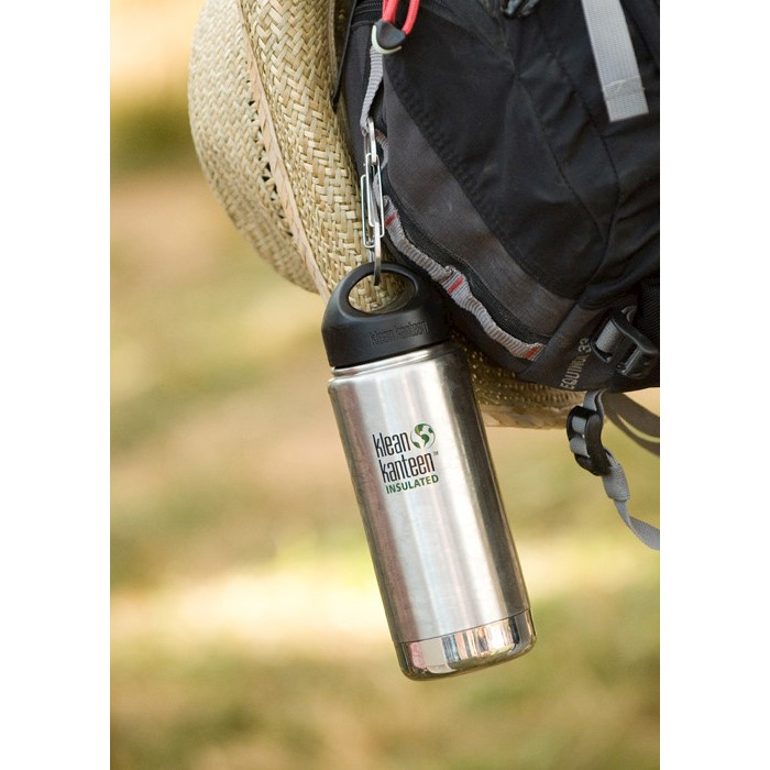 Image result for Klean Kanteen Wide Insulated Stainless Steel Bottle With Loop Cap