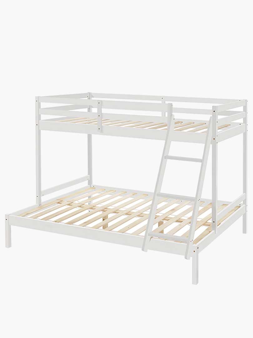 Astra Solid Timber Triple Bunk Bed Single Over Double White Buy